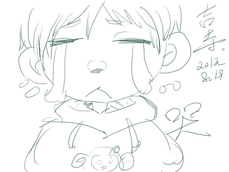 幼儿绘画哭表情